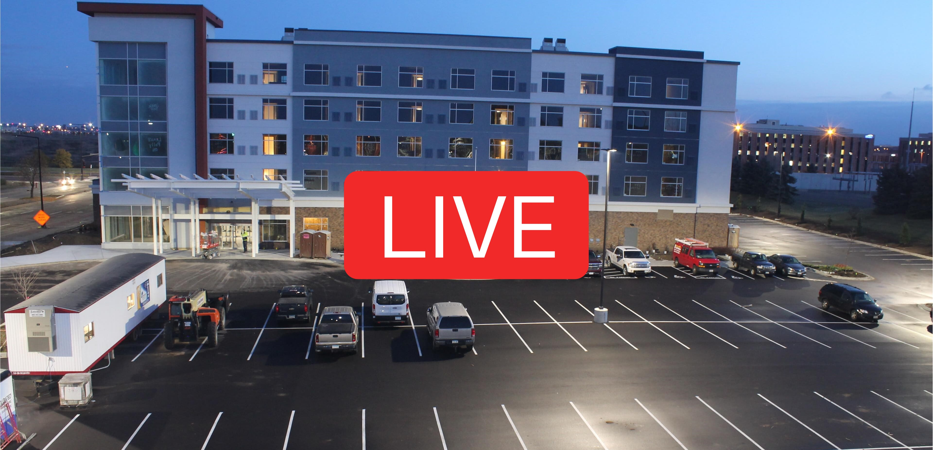 Live-streaming construction camera video